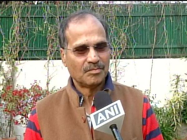 Congress MP Adhir Ranjan Chowdhury talking to ANI in New Delhi on Tuesday.