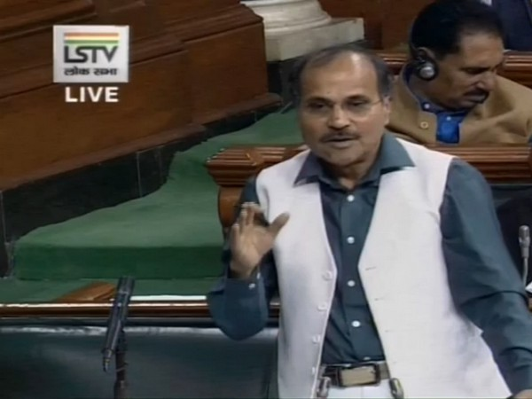 Congress leader Adhir Ranjan Chowdhury speaking in the Lok Sabha on Wednesday.