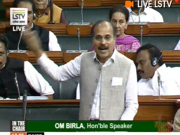 Leader of Congress in Lok Sabha Adhir Ranjan Chowdhury (Photo Credits: LSTV)