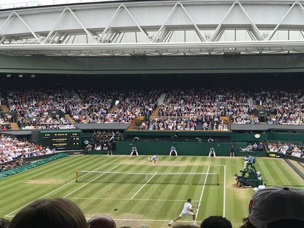 Aditya Roy Kapoor Instagram post from Roger Federer vs Novak Djokovic Wimbledon final