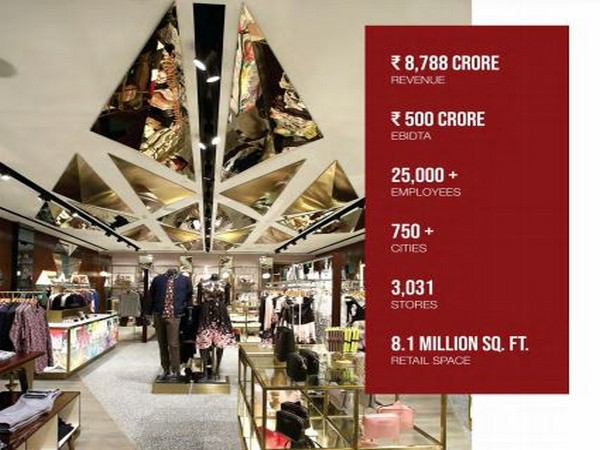 The company has a network of 3,157 stores across 29,900 multi-brand outlets across India