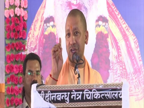 Chief Minister Yogi Adityanath speaking at an event in Ayodhya on Friday. Photo/ANI
