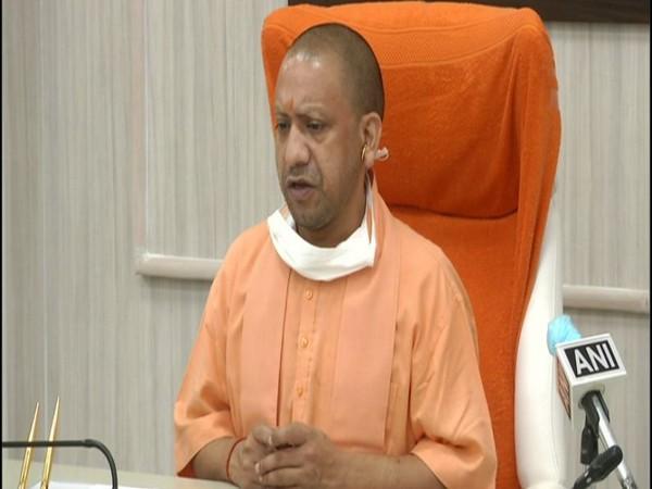 Chief Minister Yogi Adityanath speaking to the reporters on Wednesday. (Photo/ANI)