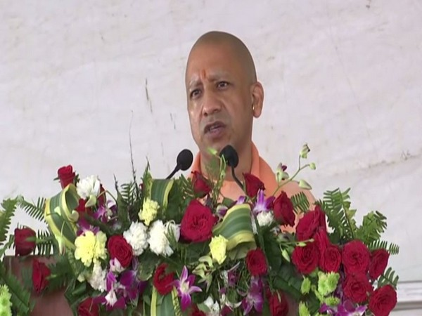 Chief Minister Yogi Adityanath speaking at an event in Lucknow on Wednesday. Photo/ANI