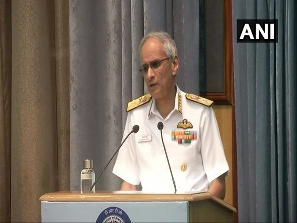 Indian Navy Chief Admiral Karambir Singh speaking at the 41st DRDO Directors' Conference in New Delhi on Tuesday. (Phot/ANI)