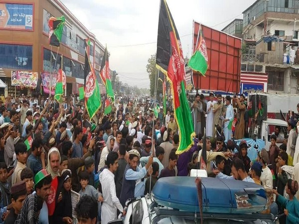 Afghans protest in Khost on Monday over Pak cross border fire