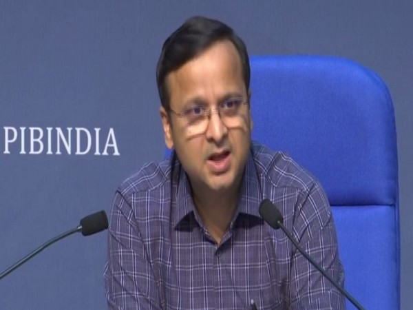 Lav Aggarwal, Joint Secretary, Ministry of Health and Family Welfare, speaking at a press conference on Monday. Photo/ANI