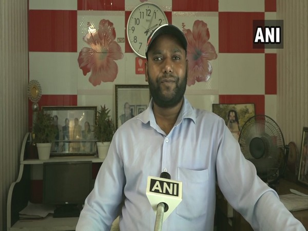 Mohammad Siraj, an employee at a hotel in Agra, speaking to ANI on Friday. (Photo/ANI)