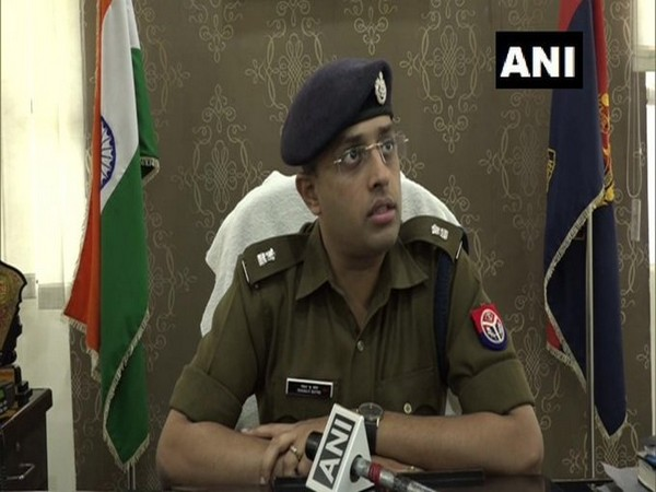 Superintendent of Police (SP) City, BR Prasad talking to ANI in Agra. Photo/ANI