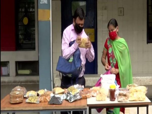 Divyang man starts own business after losing job in lockdown in Ahmedabad. Photo/ANI