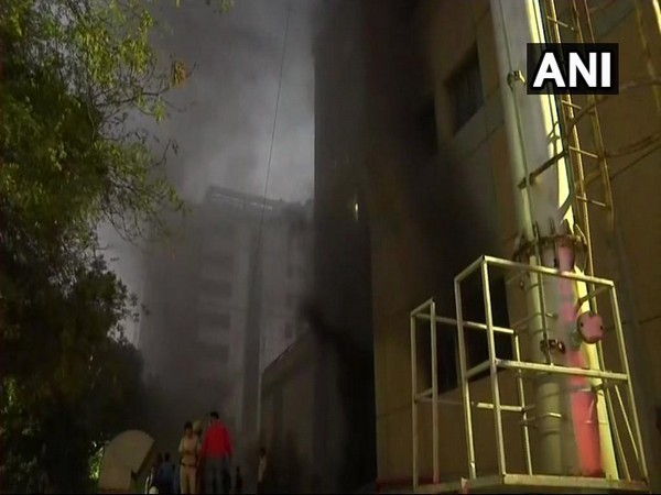 According to AIIMS, smoke was noticed at around 5:45 pm in one of the stores adjacent to the Operation Theatre area on the ground floor of the JPNA Trauma Centre. Photo/ANI