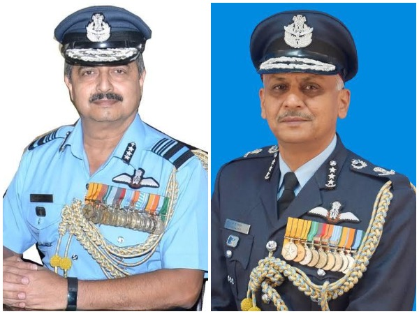 New WAC Chief Air Marshal VR Chaudhari and Training Command Chief Air Marshal RD Mathur