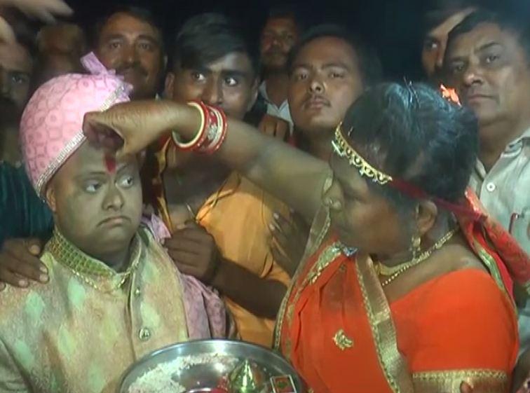 Ajay Barot's wedding procession. Photo/ANI