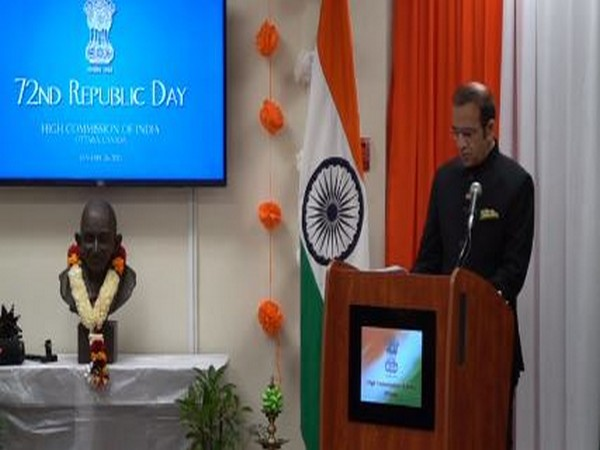 Indian High Commissioner in Canada on Tuesday the 72nd Republic Day here in Ottawa.