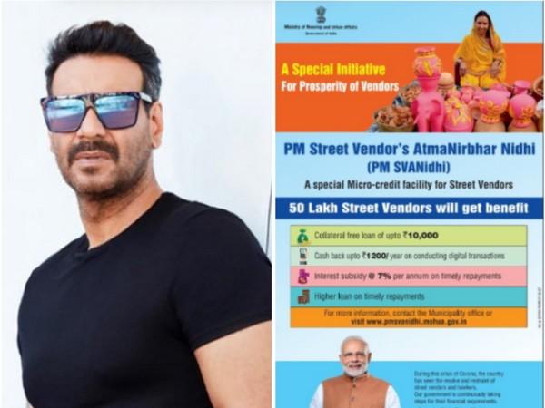 Bollywood actor Ajay Devgn lauds PM-SVANidhi Scheme (Image source: Twitter)