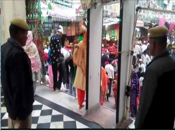 Tightened security at Ajmer Sharif Dargah. Photo/ANI