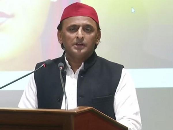 Samajwadi Party chief Akhilesh Yadav addressing a press conference in Lucknow, Uttar Pradesh on Friday. (Photo/ANI)
