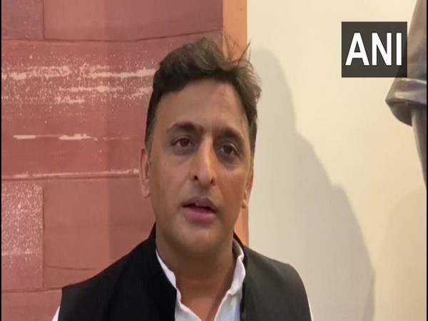 SP leader Akhilesh Yadav talking to ANI in New Delhi on Friday. Photo/ANI