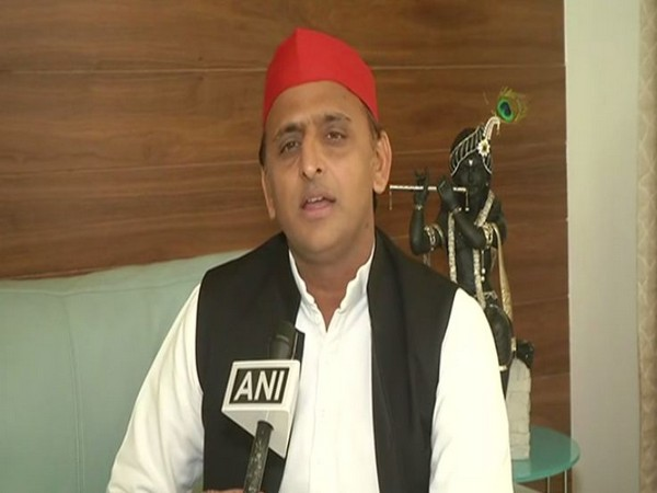 Samajwadi Party chief Akhilesh Yadav while speaking to ANI in Lucknow, Uttar Pradesh on Saturday. (Photo/ANI)
