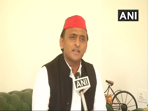 Samajwadi Party chief Akhilesh Yadav speaking to ANI Photo/ANI