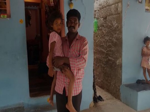 Akshara with her father Sambasiva Rao