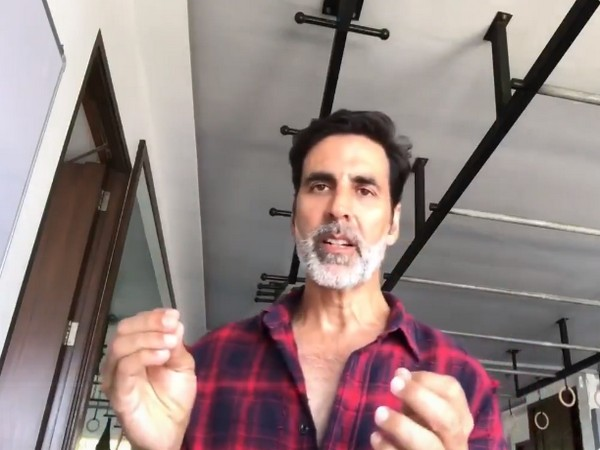 A still from the video shared by actor Akshay Kumar (Image courtesy: Twitter)