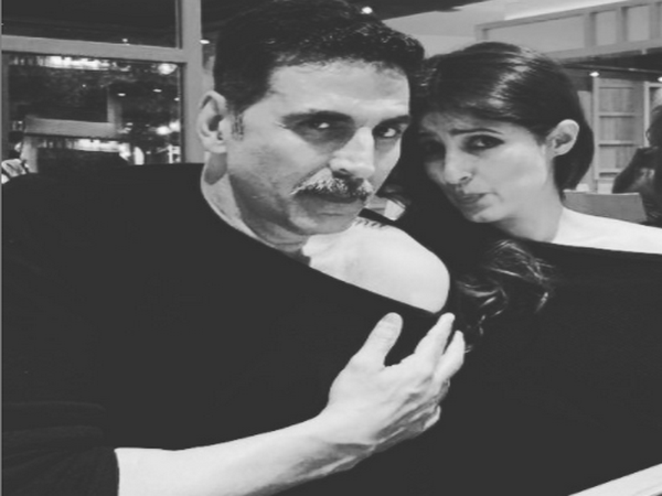 Celebrity couple Akshay Kumar and Twinkle Khanna (Image Source: Instagram)