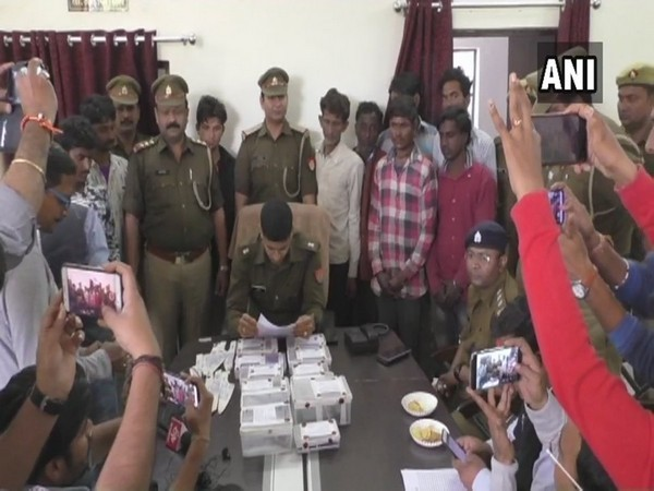 Police busted an inter-state gang in Aligarh on Saturday. Photo/ANI