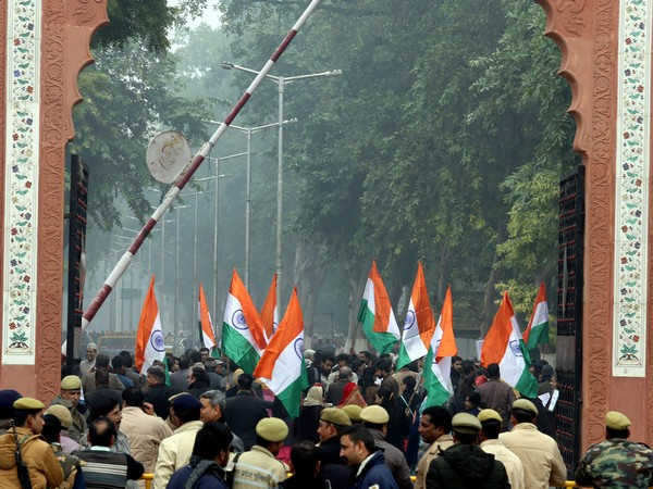 Members of Aligarh Muslim University had take parts in a similar protest march against the citizenship amendment act in University Campus in December. (File Image)