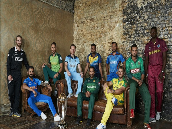 Captains of ten competing nations in the World Cup (Photo/ICC)