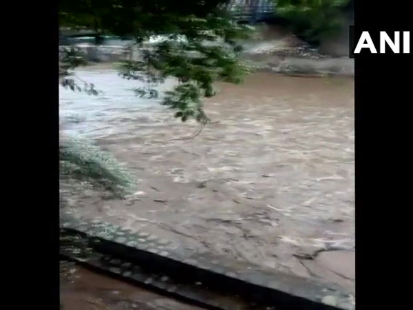 River water rising due to cloud burst in Almora district (Pic source- SDRF)