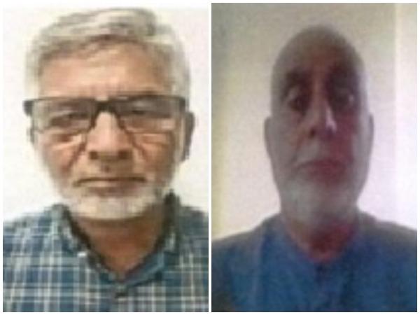 Altaf Shah, son-in-law of Kashmiri separatist Syed Ali Shah Geelani (left) and Zahoor Ahmad Shah Watali (right)