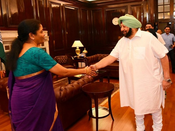 Union Finance Minister Nirmala Sitharaman meeting Punjab Chief Minister Captain Amarinder Singh in New Delhi on Friday. Photo/ANI