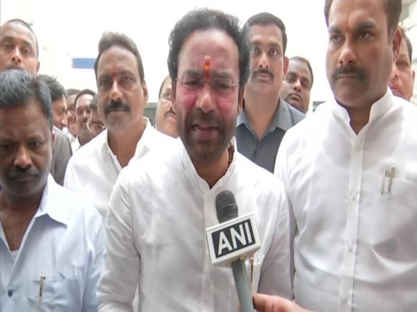 Minister of State for Home Affairs, G Kishan Reddy speaks to ANI in Hyderabad on Saturday. (Photo/ANI)