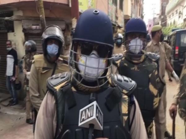 Amit Shah speaking at a public rally in Kasganj, Uttar Pradesh.