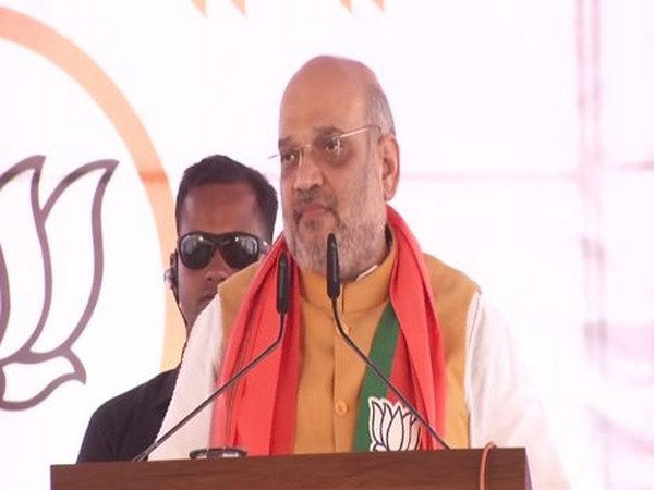 Union Home Minister Amit Shah during his address in Satara on Sunday. Photo/ANI