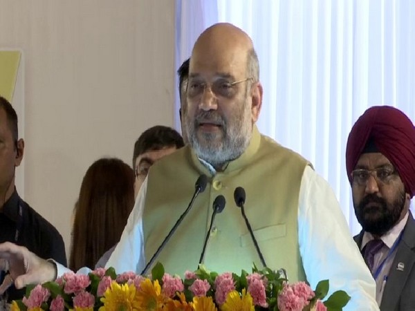 Union Home Minister speaking at the foundation ceremony of Janganana Bhawan in new Delhi on Monday. Photo/ANI