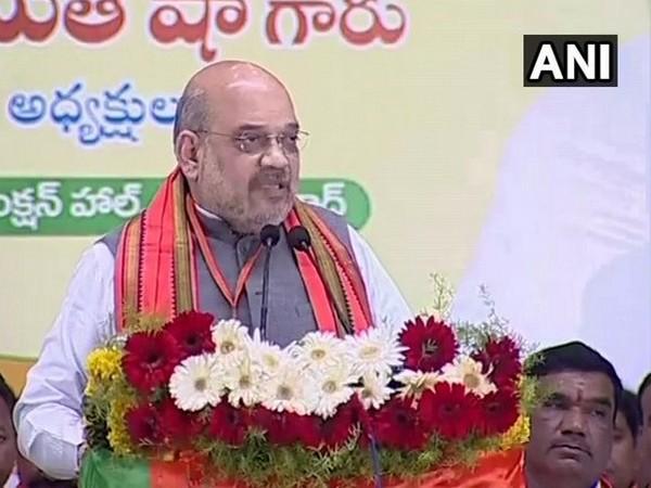 BJP president Amit Shah in Nizamabad, Telangana