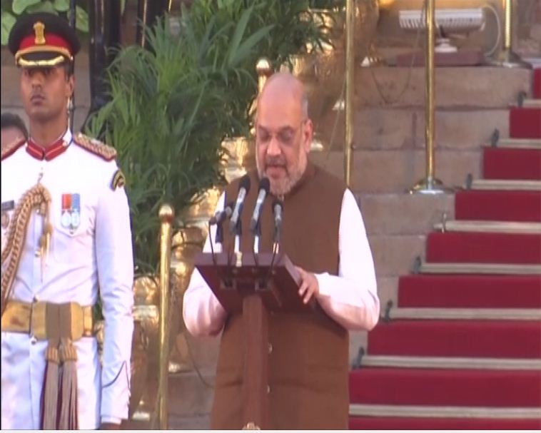 Amit Shah took oath as cabinet minister on May 30. Phot/ANI