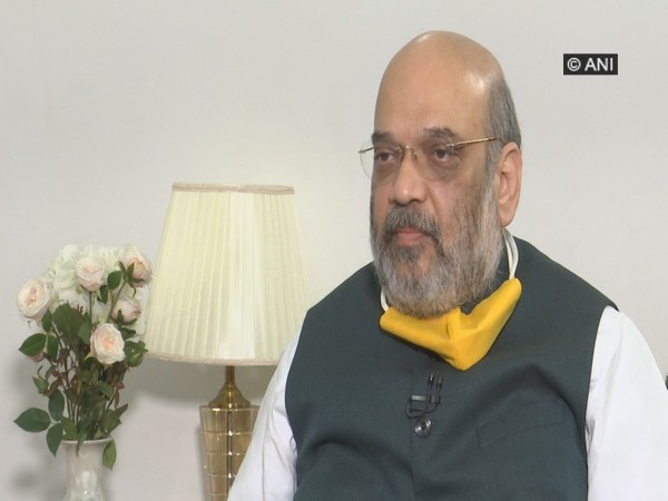 Union Home Minister Amit Shah speaking to ANI. [Photo/ANI]