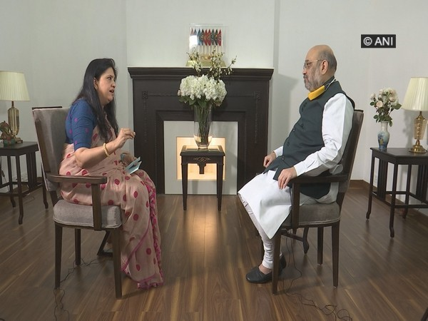 Union Home Minister Amit Shah in an exclusive interview with ANI Editor Smita Prakash. Photo/ANI