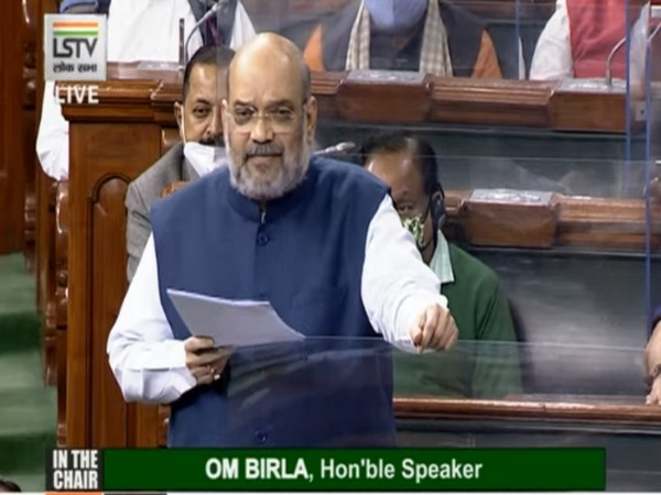 Union Home Minister Amit Shah speaking in Lok Sabha on Saturday. (Photo/ANI)