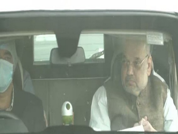 Union Home Minister Amit Shah on Sunday started his second of two-day Bengal visit. (Photo/ANI)