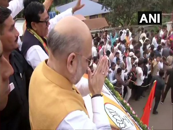 Amit Shah holds roadshow in Pune
