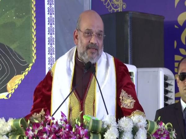 Amit Shah speaks in Rishikesh on Saturday [Photo/ANI]