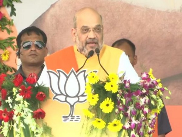Home Minister and BJP president Amit Shah addressing a rally in Jamtara, Jharkhand on Wednesday. (Photo/ANI)