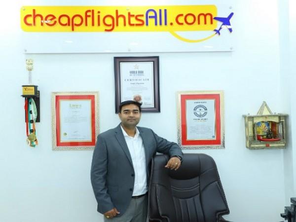 World record holder and Founder of Cheapflightsall.com - Amit Sharma