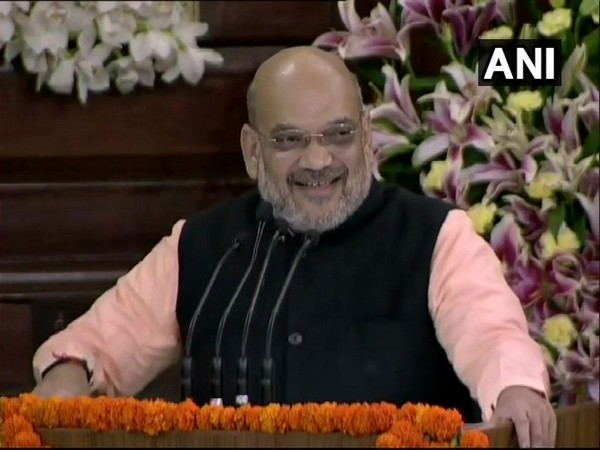 BJP chief Amit Shah addressing the NDA meeting in Central Hall of Parliament on Saturday.