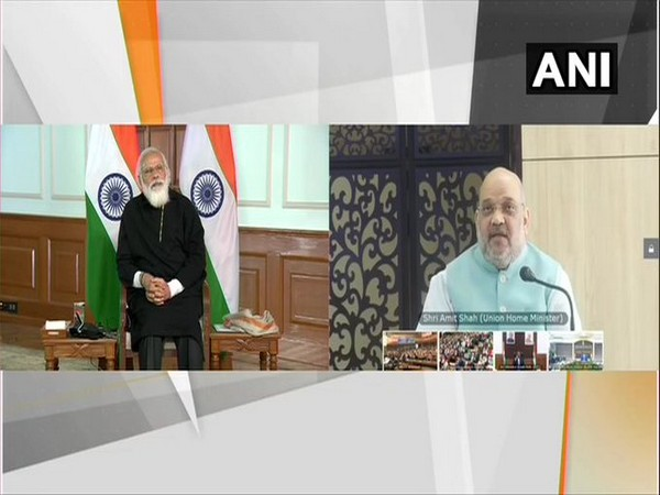Union Home Minister Amit Shah addresses the event on Saturday. (Photo/ANI)