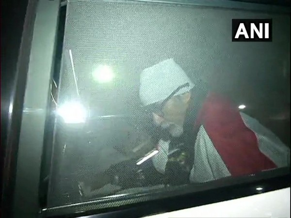 Amitabh Bachchan leaves from Nanavati Hospital after being discharged from the hospital following a routine check up